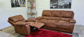 Harvey's 3 Seater Sofa & Electric Recliner Armchair