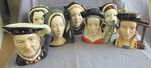 ROYAL DOULTON LARGE TOBY MUGS HENRY 8TH. + 6 WIVES