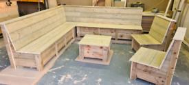 🔆 new garden L shape furniture
