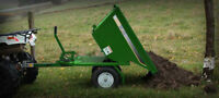 ATV TRAILER SELF DUMPING. JUST PULL THE LEVER AND DUMP THE LOAD
