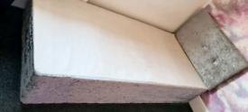 Single crushed velvet bed