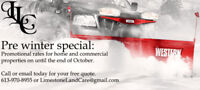 Residential and commercial snow clearing specials!