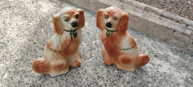 Vintage Pair Of Spanial Mantle Dogs