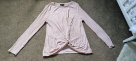Size 12 pink twist front jumper