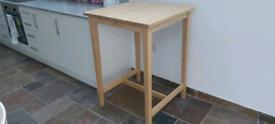 Ikea BJÖRKUDDEN high bar table