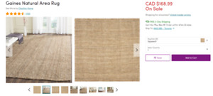 Natural Jute Rug - Brand New Never Used