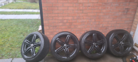 19 INCH AUDI SEGMENT PEELERS ALLOYS WITH WINTER TYRES