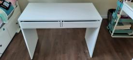 Habitat 2 drawer desk white