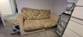 *FREE* 2 SEATER SOFA BED. CREAM, BROWN & GREY