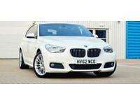 White BMW 5 Series Gran Turismo 2.0 520d M Sport GT Auto (s/s) 5dr Ulez Free px
