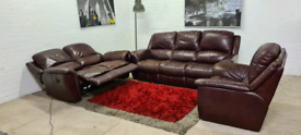 LAZBOY ®️ 3 Piece Italian Leather Recliner Sofa Set - Only £399!!