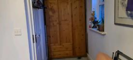 Pine wardrobe with 2 x drawers
