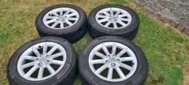 Audi Q3 alloys with tyres