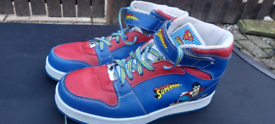 Retro superman ankle trainers worn once