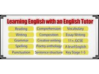 Private English Tutor, 11+ Prep, Entrance exams, SATs Prep & GCSE LIT & LANG