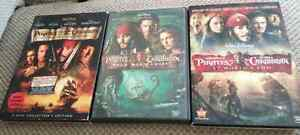 Pirates of the Caribbean DVDs Part 1 to 3  Peterborough Peterborough Area image 1