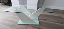 Glass coffee table used cond.