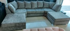 Grey U shape Corner Sofa New free local delivery