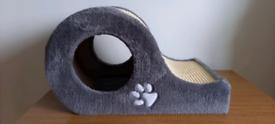 Cat kitten scratcher and hide