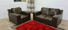 DFS - Italian Leather 2 Seater Sofa & Armchair - Only £199!!
