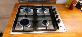 Diplomat electric oven, gas hob, extraction fan and 650x600 splashback