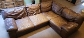 FREE Large leather corner sofa