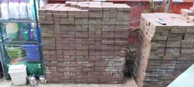 Red Patio Bricks 2000+