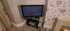 "43"" Sky TV . Dvd. Sound system"
