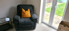 Corner couch and reclining armchair