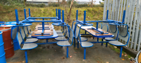 Garden outdoor bench seating / dining