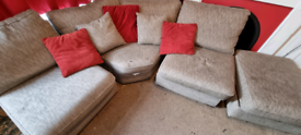 Corner sofa with storage seat