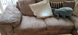 Corner sofa bed. Great for starting out