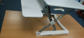 Yo yo desk working from home can be used to stand up or sit