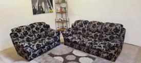 DFS - 3 & 2 Seater Fabric Sofa Set