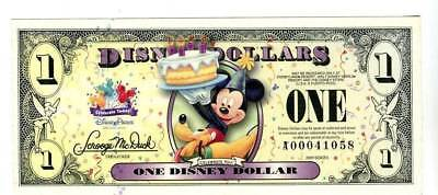 2009 $1 Mickey' Birthday Party  T Series   MINT