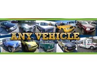 We buy any scrap vechicle and m.ot faliures cash same day collection