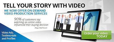 Custom Made Video ad for you to upload to Youtube or website. $100 OFF Any video