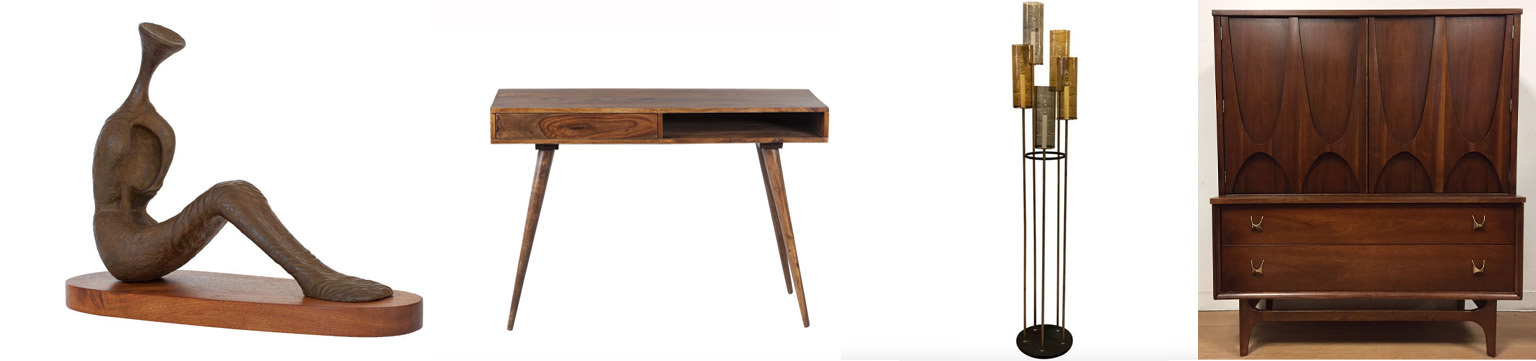 showing slide 1 of 5 mid century modern antiques - Mid Century Modern Furniture Desk