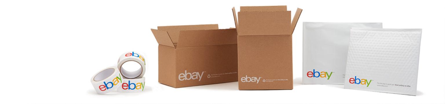 ebay brand tape, boxes and envelopes
