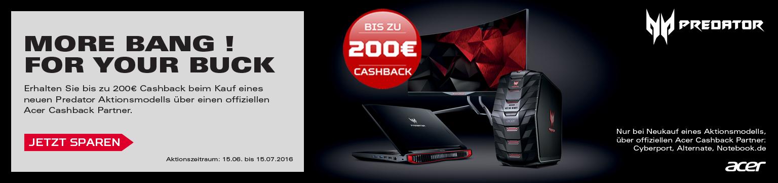 Acer Predator Cashback Aktion - Jetzt Sparen!