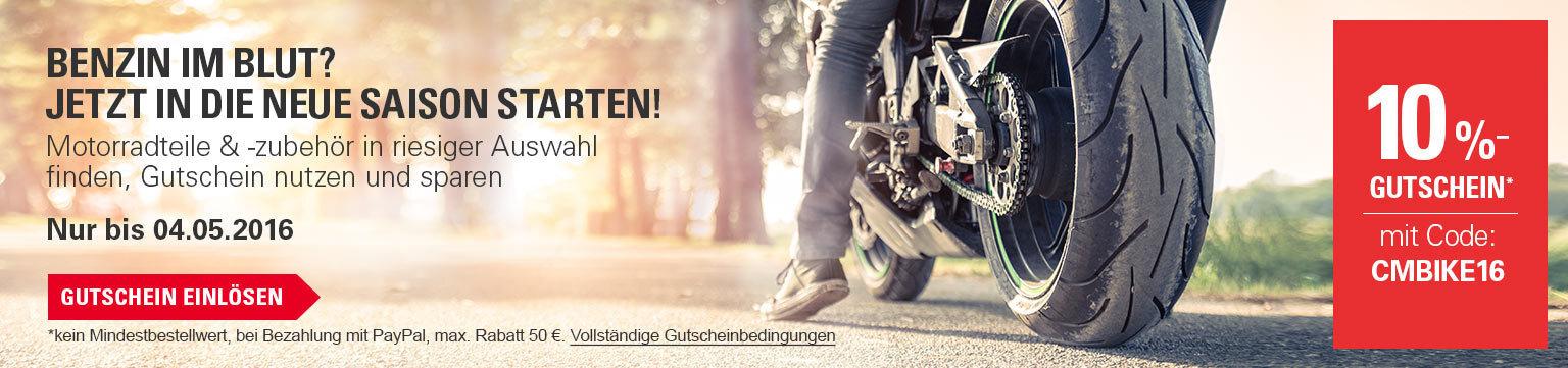 -10 % auf Motorradzubehör