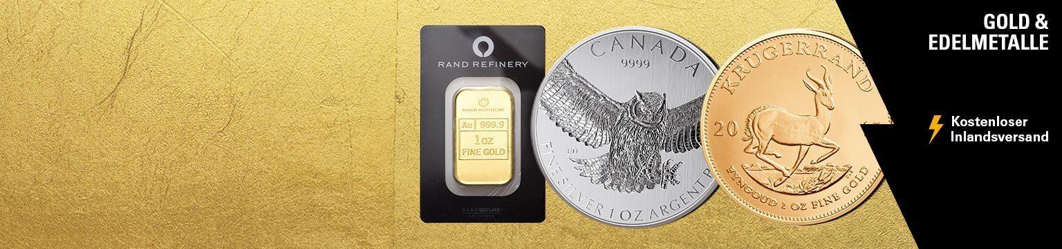 Aktionsangebote für Gold und Edelmetalle
