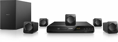 Philips HTB3524 WIFI DVD / 3D Blu-Ray - Smart 5.1 CH Home Theater System, NEW OT