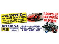 Scrap and unwanted cars wanted