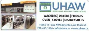 WASHERS, DRYERS -  ONE YEAR WARRANTY - 16665 111 AVE