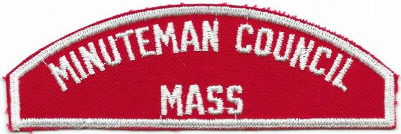 Minuteman Council RWS Red and White Strip Boy Scouts of America BSA