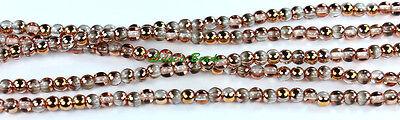100 Czech Glass Round Druk Glass Beads Apollo Gold 4mm