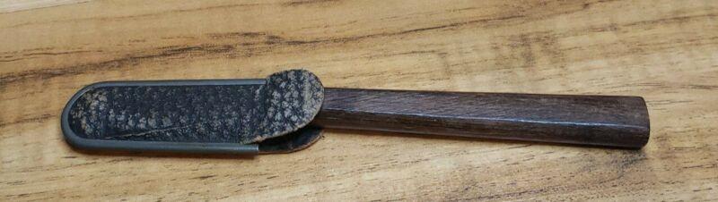 Vintage Miller Bros. Wood Handle Blood Letter Scalpel And Sheath