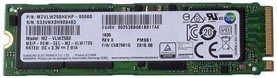 NEW Samsung PM961 256GB Gen3x4 PCIe NVMe M.2 SSD MZVLW256HEHP 960 PRO 250 GB