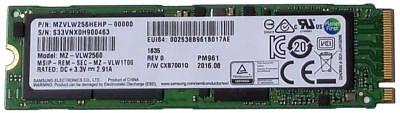 Samsung 960 Series (OEM) 256GB NVMe M.2 NGFF Pro SSD PCIe 3.0 x4 80mm - (PM961)